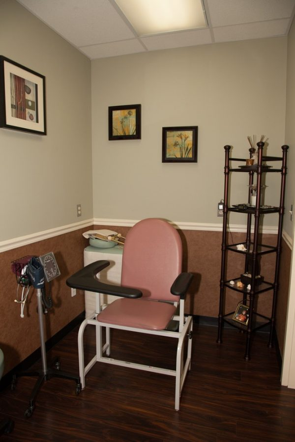 Blood pressure chair in private room
