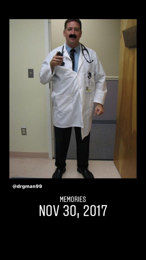 Dr. Seretis dressed up to look like silly doctor